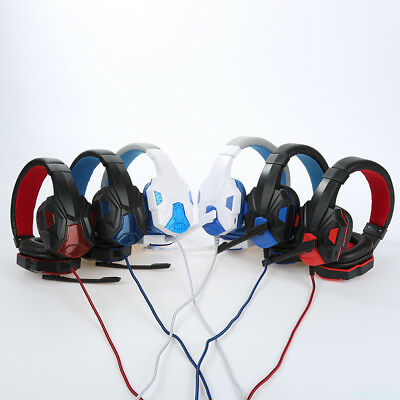 Gaming Stereo Headphone Gamer Headset with Microphone 3.5mm for PC Laptop tb26