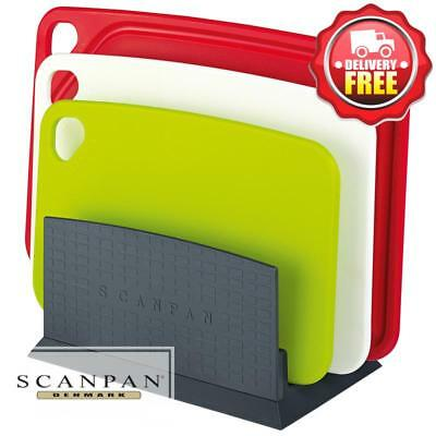 Scanpan Spectrum 4 Piece Cutting Board Set with Stand| RRP $99.95 | 18700