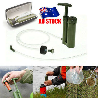 Army Portable Soldier Water Filter Purifier Cleaner Survival Emergency Camping