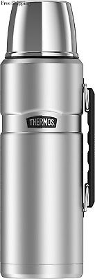 Thermos Stainless King 68 Ounce Vacuum Insulated Beverage Bottle with...