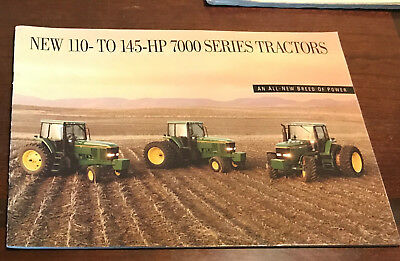 John Deere 110 to 145 HP 7000 Series Tractor Brochure