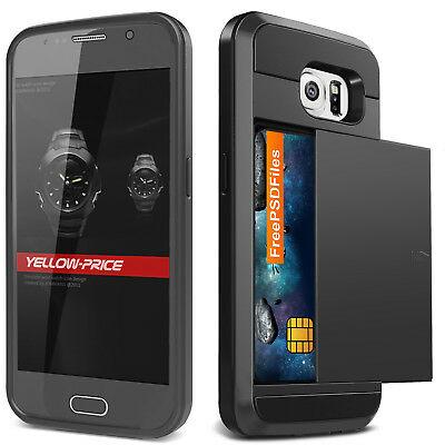 Anti-Shock Tough Stand Armor Case Wallet Cover F Samsung Galaxy S6 S6 Edge Plus