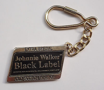 JOHNNIE WALKER Black Label Extra Special Whisky Metal Keychain # Free Shipping