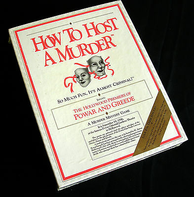 How To Host A Murder: The Hollywood Premier of Powar & Greede 1988 Decipher NEW
