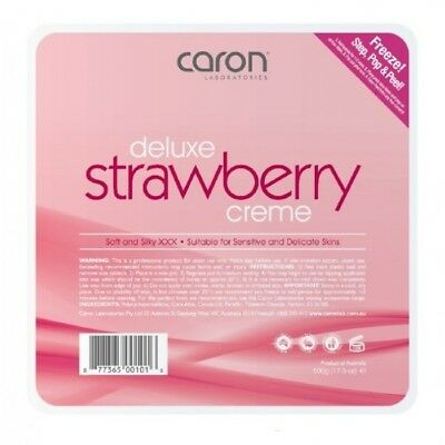 Caron Strawberry Creme Cream Hard Hot Wax Pallet Tray 500g Waxing Hair Removal