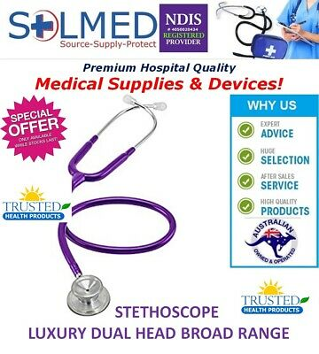 Stethoscope Broad Range Luxury Doctors Dual Head Purple X 1 See Details