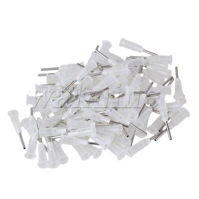 "100xStuck Connector Dispensing Blunt Needle with 1/2"""" 17G Transparent"