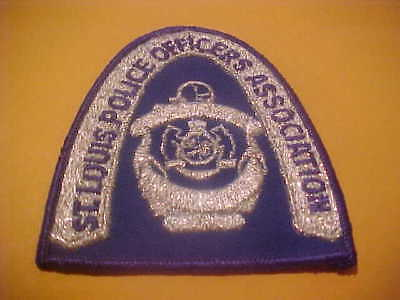 St. Louis Missouri Officers Association Police Patch Shoulder Size New Silver