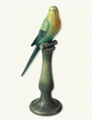 Victorian Trading Co Boca Chica Perched Parakeet Hand Painted Bird Figurine New
