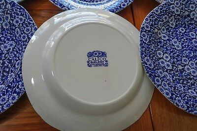 Blue calico by Burleigh - plates