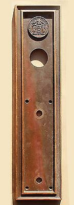 "4""x16"" Antique Seal of New Jersey SOLID Cast Bronze Door Push Plate Escutcheon"