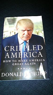 DONALD TRUMP signed/Autographed 'Crippled America' book. Premiere Collectibles!
