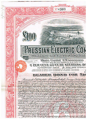Prussian Electric Co., 1928, Sterling-Bond LB 100