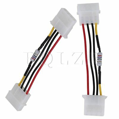 5 x PWM Fan Noise Speed Reduce D Type 4 Pin Resistor Cable for Desktop PC