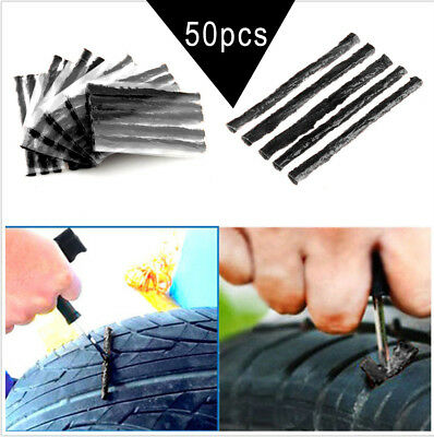 50pcs/Lots Car Truck Bike Tire Tubeless Puncture Seal Repair Strip Plug Tyre Kit