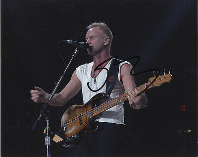 Sting ' The Police ' - In Person Signed Colour Photograph.