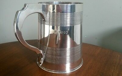 2 Pint Silver Antique Tankard 1868