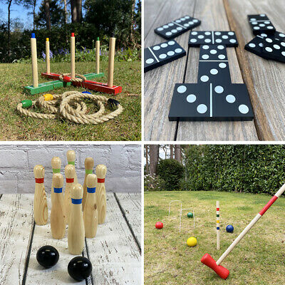 High Quality Wooden Outdoor Lawn Traditional Giant Garden Games for Kids Adults