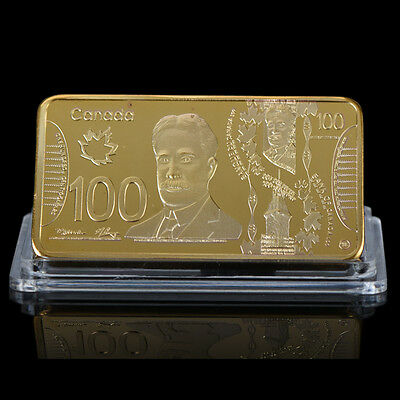 WR 24K Canada $100 Dollar Gold Bar Notes World Paper Money Collectible Gifts Man