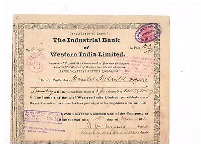 The Industrial Bank of Western India Ltd., 1920