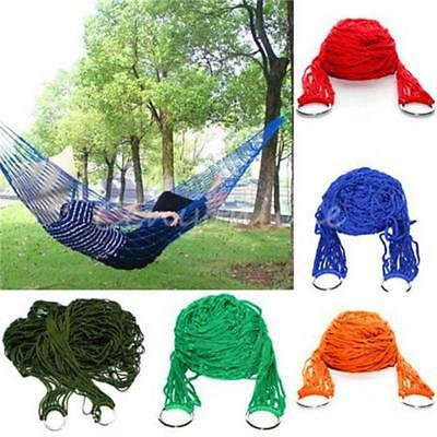 Outdoor Double Hammock Bed Swinging Travel Rope Durable Tree Hanging Strap Hook
