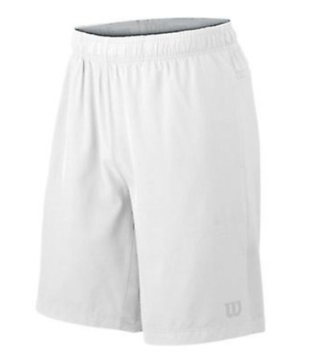 Wilson Hybrid Stretch Woven Knit 9 Herren Short, weiß, Gr. XL