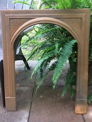 Antique Cast Iron Fireplace Surround Arched And Rare