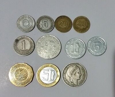 Algeria 11 coins 5 Centimes up to 100 Francs