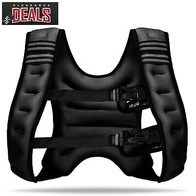 10kg Weighted Jacket Vest Running Exercise Strength Resistance Fitness Training