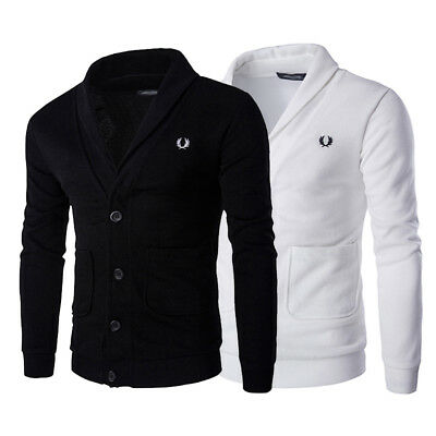 Casual Warm Men Slim Fit V-neck Knitwear Pullover Cardigan Sweater Jacket Coat