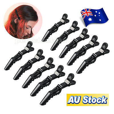 10x Salon Hairdressing Tools Crocodile Hair Section Clips Claw Clamp Clips AU