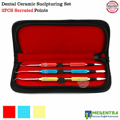 Laboratory Greenstein-Instruments ACRYL,CERAMIC Modelling Waxing Pen-Knife+Pouch