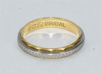 18ct solid gold wedding band ring 3.0g size M