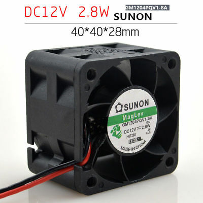 SUNON GM1204PQV1-8A Cooling Fan DC 12V 2.8W 0.24A 2pin Maglev Fan 40*40*28mm
