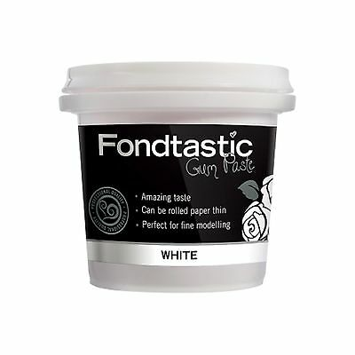 Fondtastic White Gum Paste 225g (8 oz) - ready to use