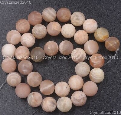 Natural Matte Frosted Sunstone Gemstones Round Beads 6mm 8mm 10mm 12mm 15.5''