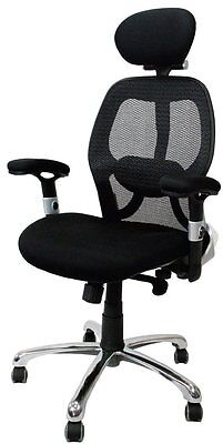 Ergo Luxury Mesh Back Executive Chair - Black