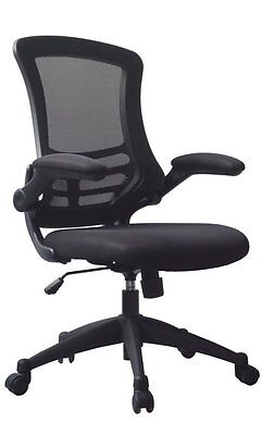 Luna Designer Mesh Chair with Folding Arms