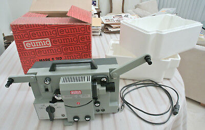 Eumig Mark S-712 Super 8 Sound Projector with Box