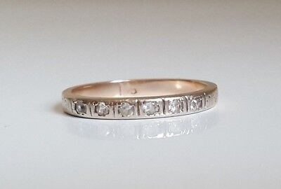 18ct solid gold wedding band ring 1.69g size L