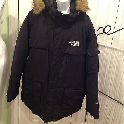 The North Face 550 Men Black Worm Winter Goose Down Insulated Jacket Size XxL