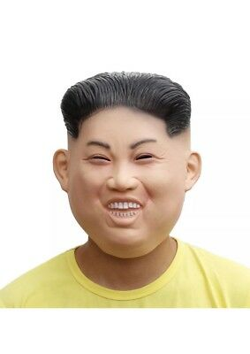 Trick Or Treat Funny KIM JONG UN Halloween Costume Mask - Latex Hunam Face Mask
