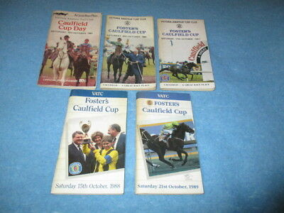 Caulfield Cup Racebooks - 5 In Total - 1980's