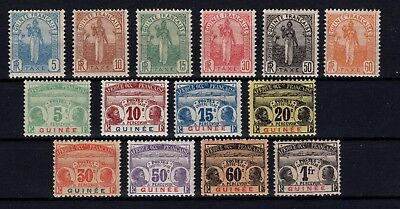 P36747/ Guinee Fr / French Guinea – 1905 / 1908 Taxe / Postage Due 225 €