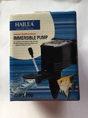 Pompe Submersible 700L/H (filtration, Interne, Aquarium, Crevette, Poisson)