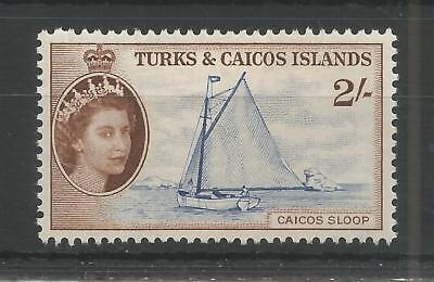 Turks & Caicos Islands 1957 High Value Definitive 2/- Sg,248 M/mint Lot 5181A