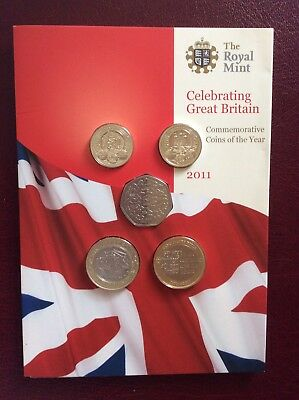 2011 ROYAL MINT BRILLIANT UNCIRCULATED SET COINS - Rare coinage included