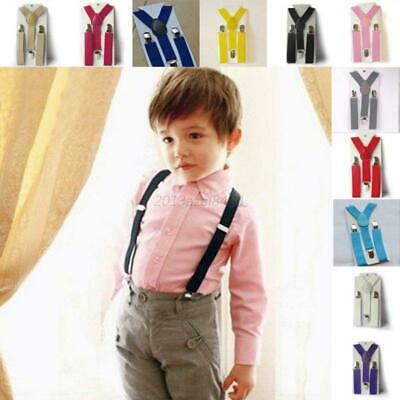 Child Kids Boys Girl Toddler Clip-on Suspenders Elastic Adjustable Braces USA