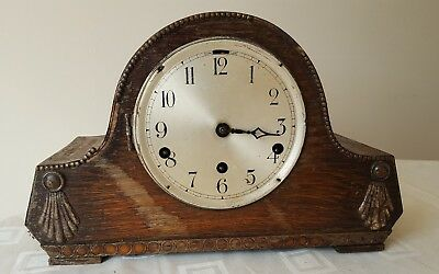 Vintage Authentic Wooden chiming Mantel Clock