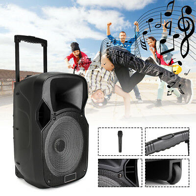 MECO DJ Speaker PA System Rechargeable Amplifier Bluetooth Karaoke USB SD Radio